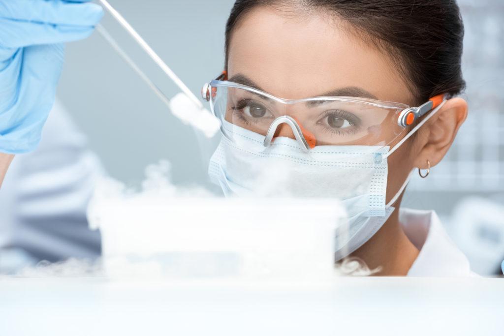 Criobiología, congelación con gas puro