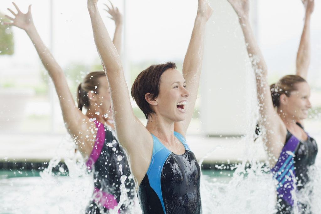 Fitness acuático, ejercicio en el agua